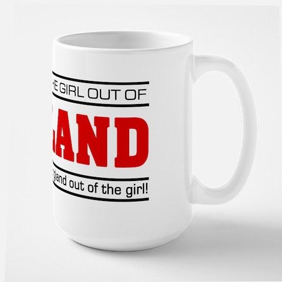 'Girl From England' Large Mug
