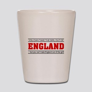'Girl From England' Shot Glass