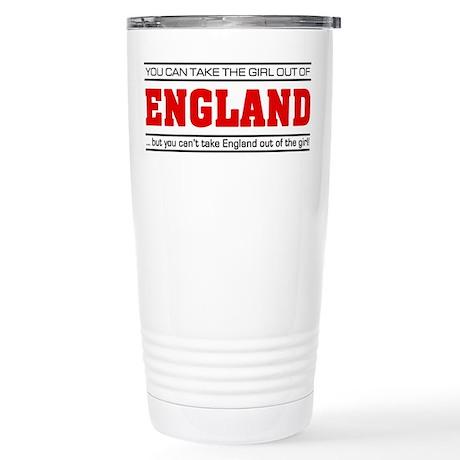 'Girl From England' Stainless Steel Travel Mug