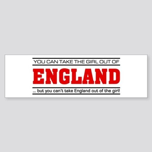 'Girl From England' Sticker (Bumper)