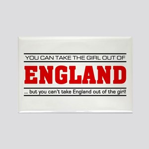 'Girl From England' Rectangle Magnet