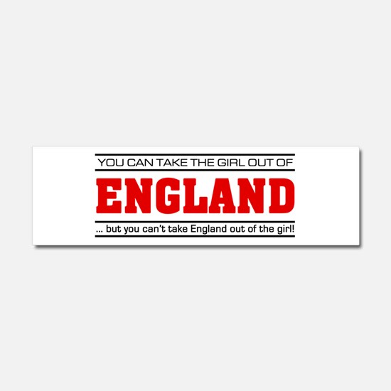 'Girl From England' Car Magnet 10 x 3
