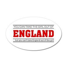'Girl From England' 22x14 Oval Wall Peel