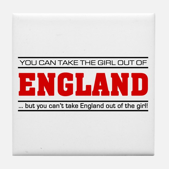 'Girl From England' Tile Coaster