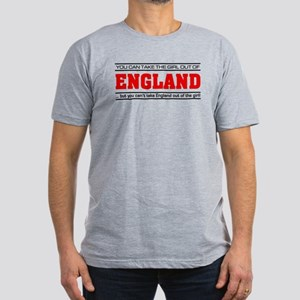'Girl From England' Men's Fitted T-Shirt (dark)