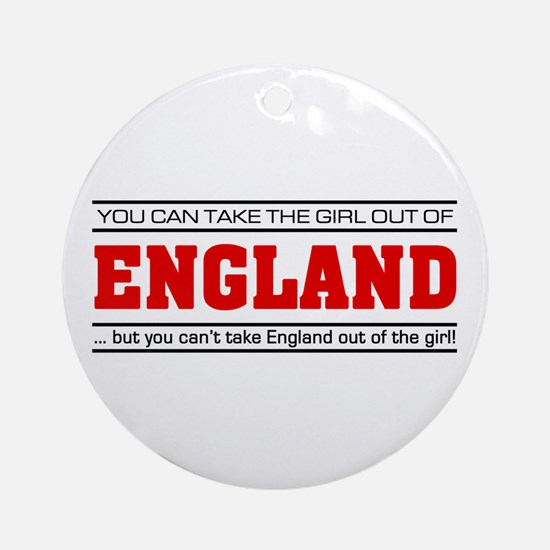 'Girl From England' Ornament (Round)
