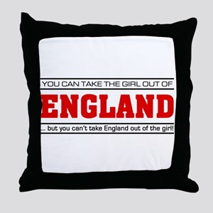 'Girl From England' Throw Pillow