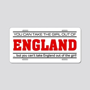'Girl From England' Aluminum License Plate
