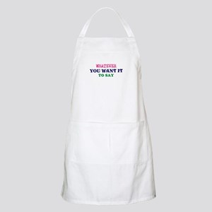 Personalized Customized (Blue) Light Apron