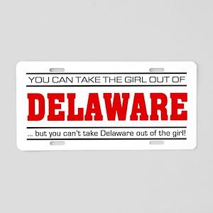 'Girl From Delaware' Aluminum License Plate