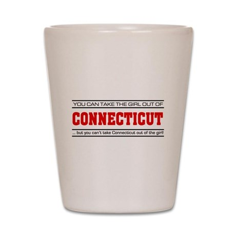 'Girl From Connecticut' Shot Glass