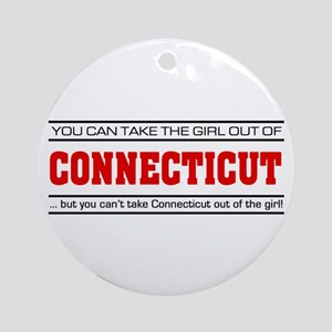 'Girl From Connecticut' Ornament (Round)