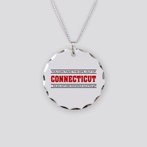 'Girl From Connecticut' Necklace Circle Charm