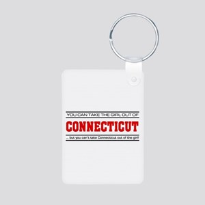 'Girl From Connecticut' Aluminum Photo Keychain