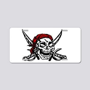 pirate flag insignia Aluminum License Plate