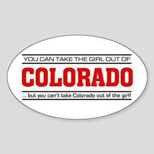 'Girl From Colorado' Sticker (Oval)