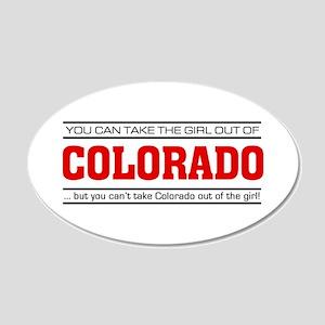 'Girl From Colorado' 22x14 Oval Wall Peel