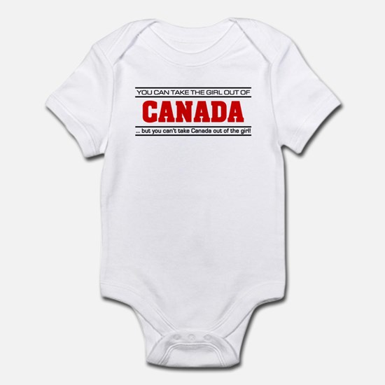 Born in canada baby clothes cafepress girl from canada infant bodysuit negle Images