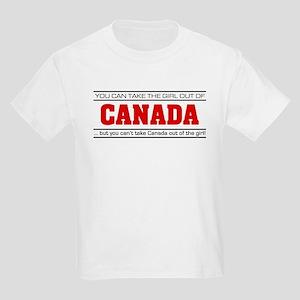 'Girl From Canada' Kids Light T-Shirt