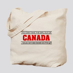 'Girl From Canada' Tote Bag