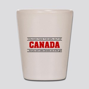 'Girl From Canada' Shot Glass