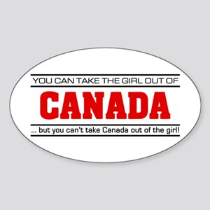 'Girl From Canada' Sticker (Oval)