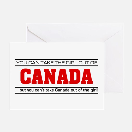 'Girl From Canada' Greeting Card