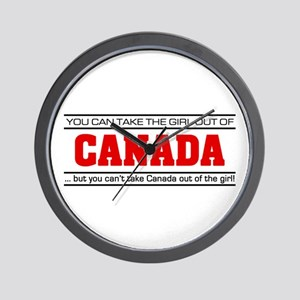 'Girl From Canada' Wall Clock