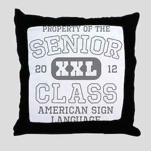 Senior 2012 ASL Honor Society Throw Pillow