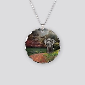 """Why God Made Dogs"" Great Dane Necklace Circle Cha"