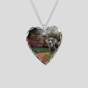"""""""Why God Made Dogs"""" Great Dane Necklace Heart Char"""