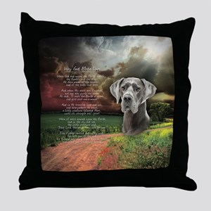"""Why God Made Dogs"" Great Dane Throw Pillow"