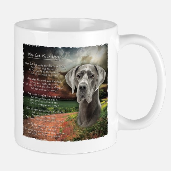 """Why God Made Dogs"" Great Dane Mug"