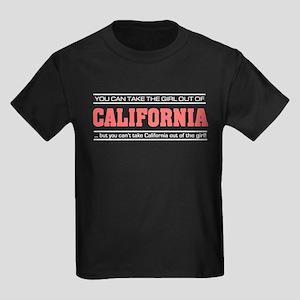 'Girl From California' Kids Dark T-Shirt