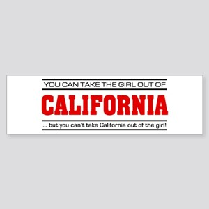 'Girl From California' Sticker (Bumper)