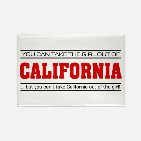 'Girl From California' Rectangle Magnet