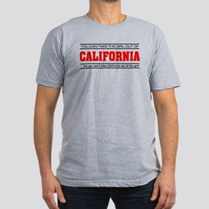 'Girl From California' Men's Fitted T-Shirt (dark)