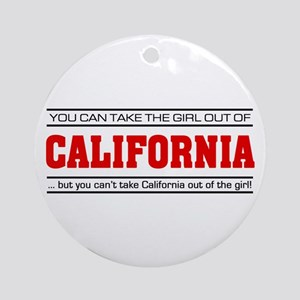 'Girl From California' Ornament (Round)