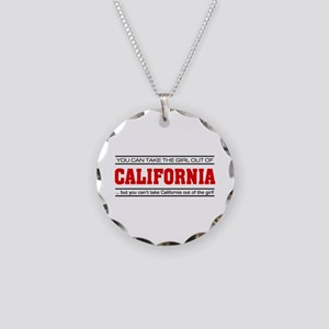 'Girl From California' Necklace Circle Charm