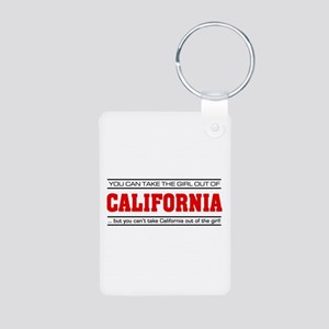 'Girl From California' Aluminum Photo Keychain