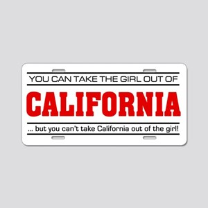 'Girl From California' Aluminum License Plate