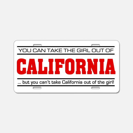 'Girl From California' Aluminum License Plate