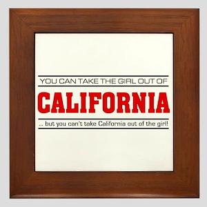 'Girl From California' Framed Tile
