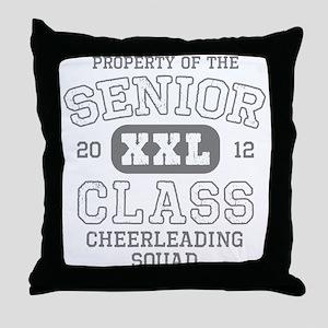 Senior 2012 Cheerleading Throw Pillow
