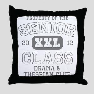 Senior 2012 Drama Thespian C Throw Pillow