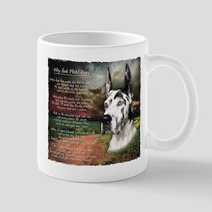 """Why God Made Dogs"" Great Dane Mug"