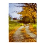 Country Road with Barn 5'x7'Area Rug