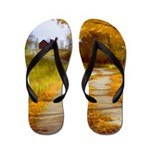 Country Road with Barn Flip Flops