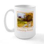 Country Road with Barn 15 oz Ceramic Large Mug