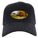 Country Road with Barn Black Cap with Patch
